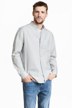 Pima cotton Oxford shirt - Light grey - Men | H&M CA 1