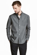 Pima cotton Oxford shirt - Grey - Men | H&M CN 1