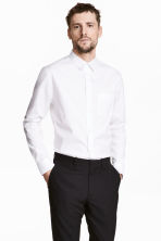 Pima cotton shirt - White - Men | H&M CN 1