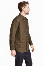 Silk shirt - Khaki brown - Men | H&M 1
