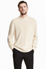 Linen-blend jumper - Natural white - Men | H&M 1
