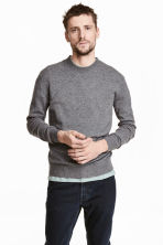 Cashmere jumper - Dark grey marl - Men | H&M 1