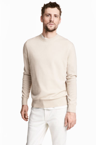 Cashmere jumper - Light beige - Men | H&M 1