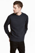 Pullover in misto seta - Blu scuro - UOMO | H&M IT 1