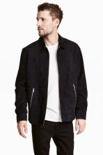 Suede shirt jacket - Dark blue -  | H&M CA 1
