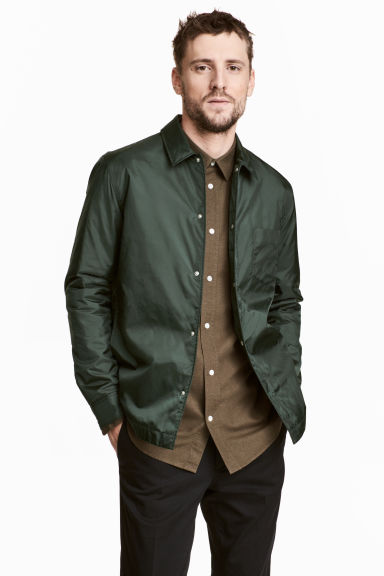 Padded nylon shirt jacket Model