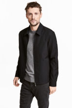Wool-blend shirt jacket - Black - Men | H&M 1
