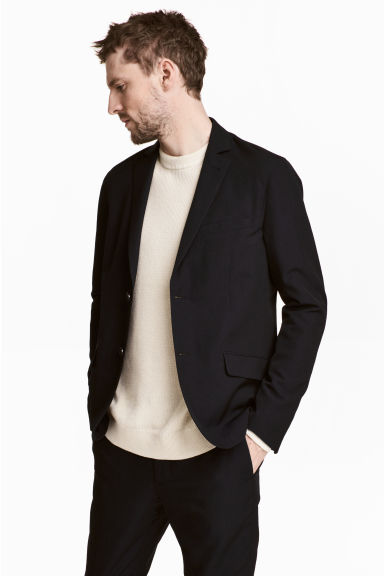 Wool-blend jacket - Black - Men | H&M 1