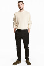 Cotton twill chinos - Black - Men | H&M CA 1
