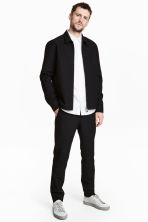 Wool-blend chinos - Black - Men | H&M CN 1