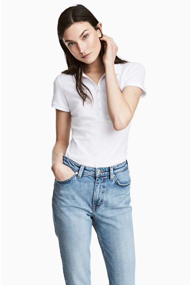 Polo shirt - White - Ladies | H&M