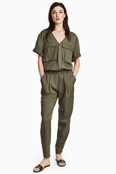 Lyocell-blend jumpsuit Model