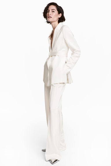 Satin suit trousers Model
