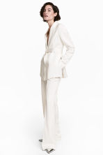 Satin suit trousers - White - Ladies | H&M CN 1