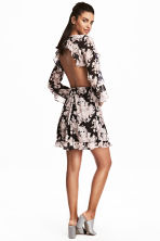 Frilled dress - Black/Floral - Ladies | H&M 1