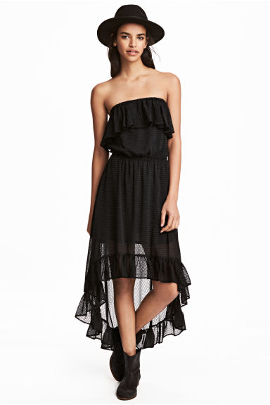Flounced dress - Black - Ladies | H&M 1