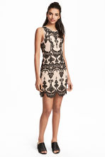 Lace dress - Beige/Black - Ladies | H&M 1