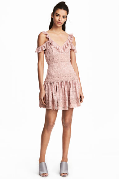 Lace dress - Old rose - Ladies | H&M