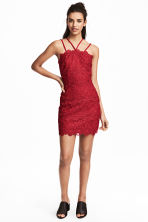 Lace dress - Red - Ladies | H&M CN 1