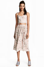 Embroidered skirt - Light pink/Floral - Ladies | H&M 1
