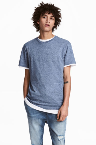 Round-necked T-shirt - Blue marl - Men | H&M 1