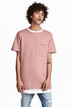 Fine-knit T-shirt - Dusky pink - Men | H&M 1
