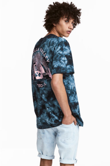 Batik-patterned T-shirt