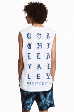 Text-print vest top - White - Men | H&M 1