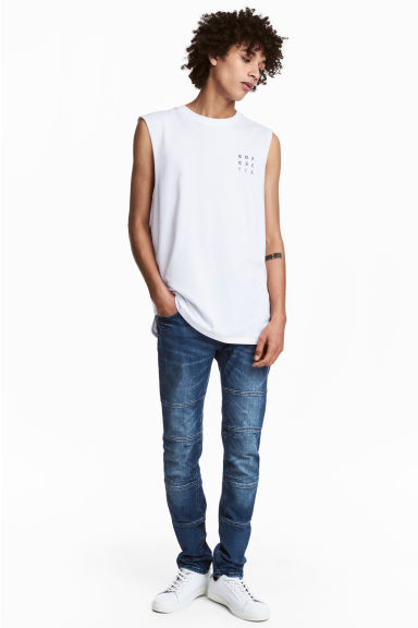 Skinny Tapered Jeans - Dark denim blue -  | H&M 1