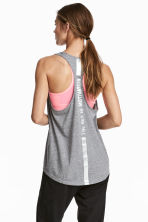 Sports vest top - Grey marl - Ladies | H&M 1