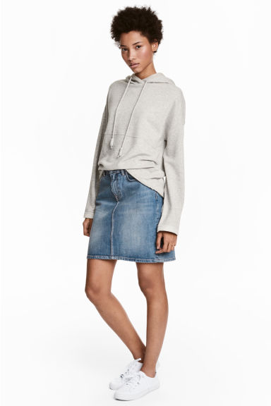Denim skirt - Denim blue - Ladies | H&M CN 1