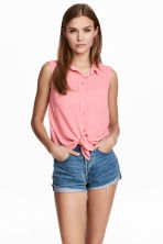 Sleeveless blouse - Pink - Ladies | H&M CN 1