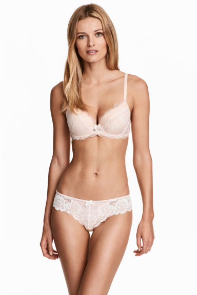 Lace Brazilian briefs - Light apricot - Ladies | H&M 1