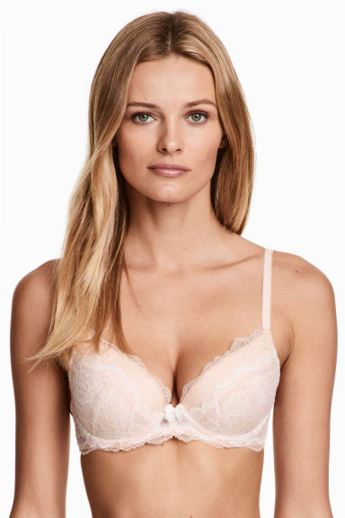 Lace push-up bra - Light apricot - Ladies | H&M 1
