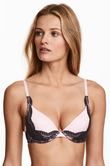 Padded underwired bra - Light pink - Ladies | H&M 1