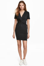 Dress with tie detail - Black - Ladies | H&M CN 1