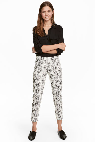 Cigarette trousers - White/Patterned - Ladies | H&M 1
