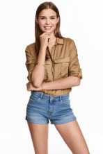 Short denim shorts - Denim blue - Ladies | H&M CN 1