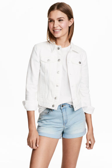 Short denim shorts - Light denim blue - Ladies | H&M CN 1