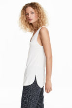 V-neck jersey top - White - Ladies | H&M CN 2