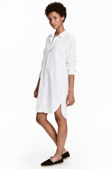 Long shirt - White - Ladies | H&M CN 1