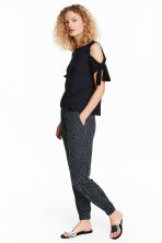 Harem pants - Dark blue/Spotted - Ladies | H&M 1