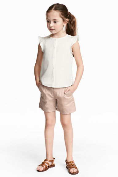 Cotton shorts - Light beige - Kids | H&M