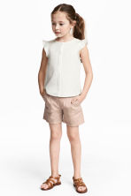 Cotton shorts - Light beige - Kids | H&M 1