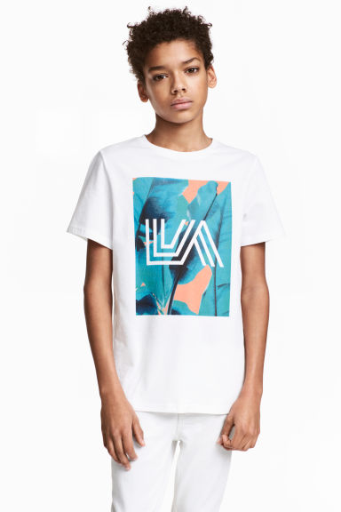Printed T-shirt - White/Los Angeles - Kids | H&M CN 1
