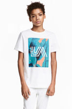Printed T-shirt - White/Los Angeles - Kids | H&M 1