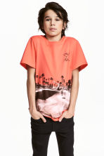 T-shirt con stampa - Corallo - BAMBINO | H&M IT 1