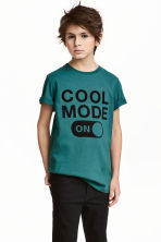 Printed T-shirt - Petrol green - Kids | H&M 1