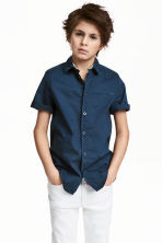 Short-sleeved shirt - Dark blue/Spotted -  | H&M 1