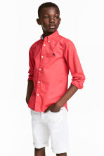 Cotton shirt - Coral red - Kids | H&M 1